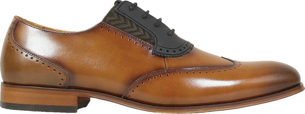 Men's Stacy Adams Sullivan Wingtip Oxford, Cognac Smooth Leather, large, image 2