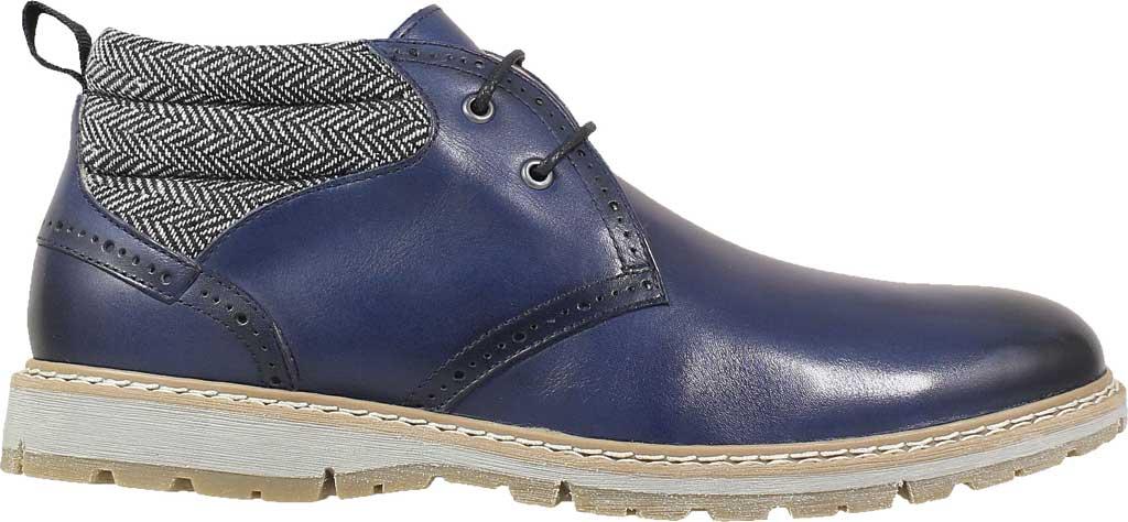 Men's Stacy Adams Grantley Plain Toe Chukka Boot, Indigo Leather/Herringbone Textile, large, image 2
