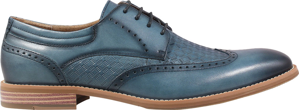 Men's Stacy Adams Fallon Wing Tip Oxford, , large, image 2