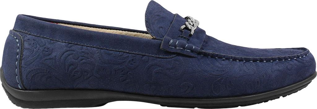 Men's Stacy Adams Clem Moc Toe Bit Loafer, Navy Floral Embossed Leather, large, image 2