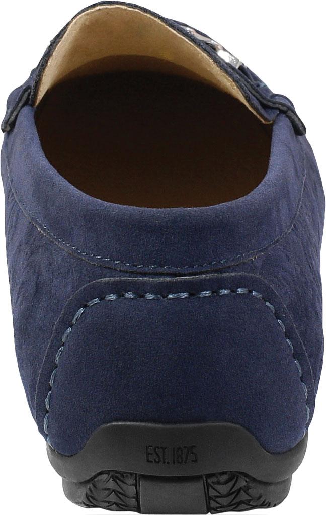 Men's Stacy Adams Clem Moc Toe Bit Loafer, Navy Floral Embossed Leather, large, image 4