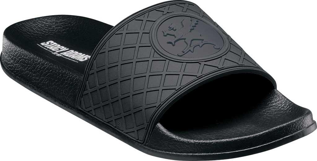 Men's Stacy Adams Shuffle Slide, Black Rubber, large, image 1