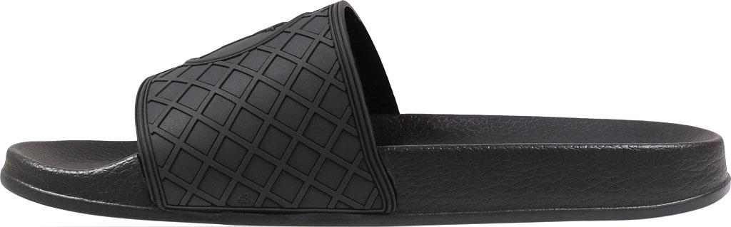 Men's Stacy Adams Shuffle Slide, Black Rubber, large, image 3