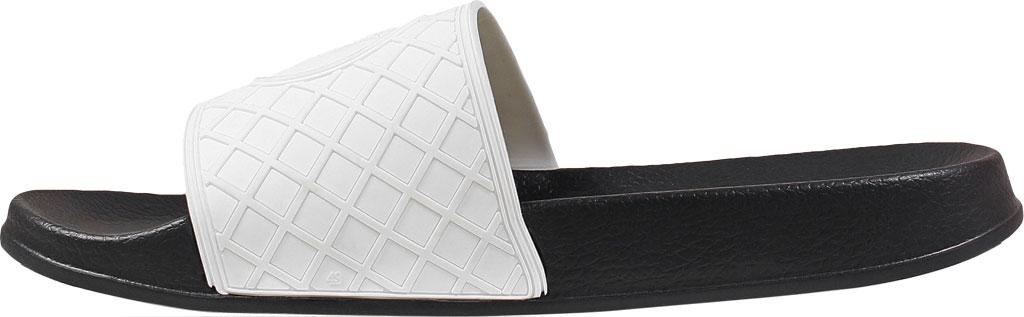 Men's Stacy Adams Shuffle Slide, White Rubber, large, image 3