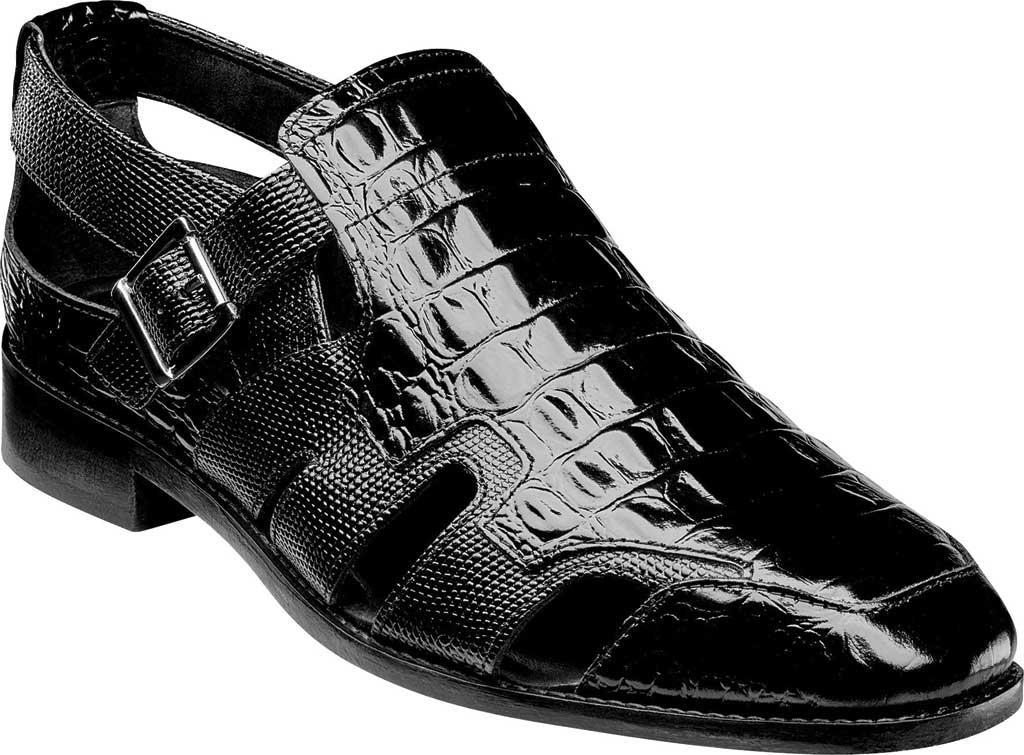 Men's Stacy Adams Calzada Closed Toe Sandal, Black Lizard Print Leather, large, image 1
