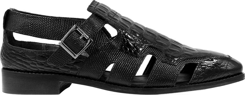 Men's Stacy Adams Calzada Closed Toe Sandal, Black Lizard Print Leather, large, image 2