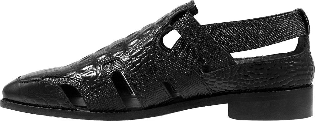 Men's Stacy Adams Calzada Closed Toe Sandal, Black Lizard Print Leather, large, image 3