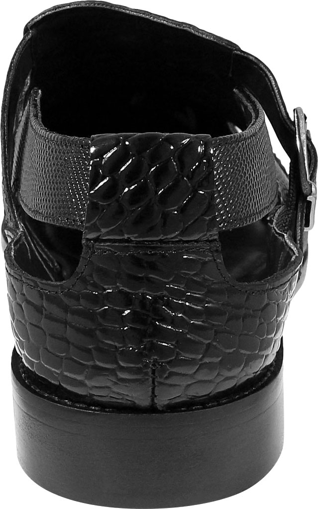 Men's Stacy Adams Calzada Closed Toe Sandal, Black Lizard Print Leather, large, image 4