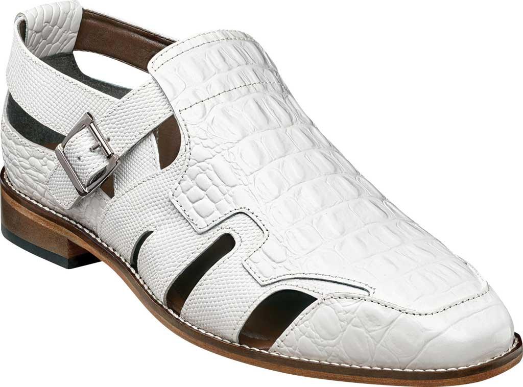 Men's Stacy Adams Calzada Closed Toe Sandal, White Lizard Print Leather, large, image 1