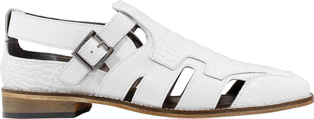 Men's Stacy Adams Calzada Closed Toe Sandal, White Lizard Print Leather, large, image 2