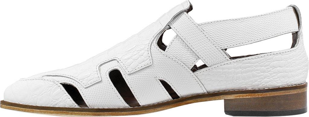 Men's Stacy Adams Calzada Closed Toe Sandal, White Lizard Print Leather, large, image 3