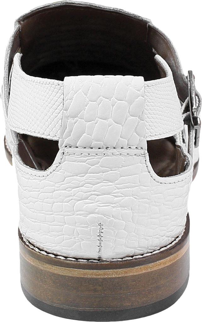 Men's Stacy Adams Calzada Closed Toe Sandal, White Lizard Print Leather, large, image 4