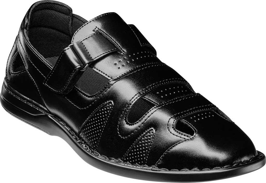 Men's Stacy Adams Aramis Closed Toe Fisherman Sandal, Black Leather, large, image 1