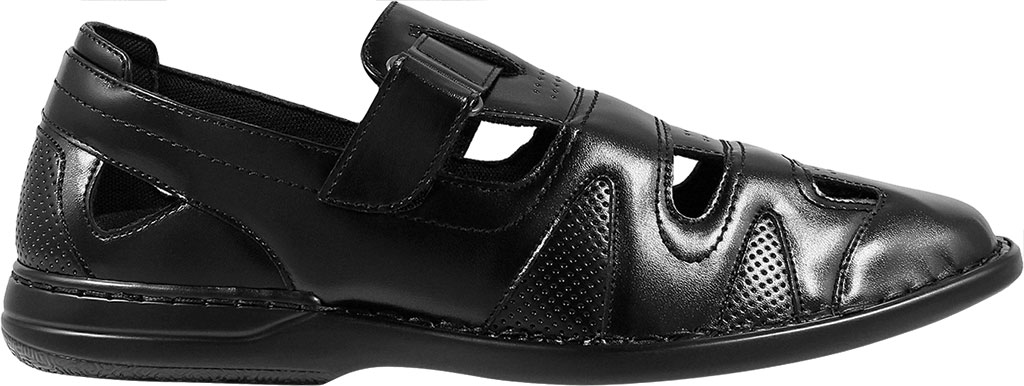 Men's Stacy Adams Aramis Closed Toe Fisherman Sandal, Black Leather, large, image 2
