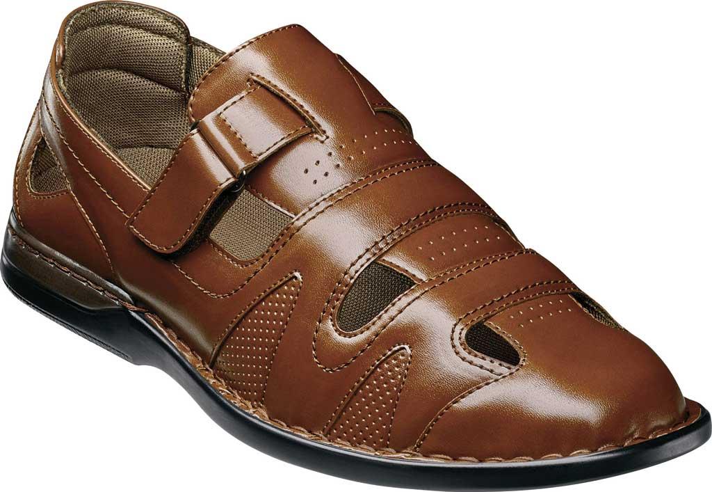 Men's Stacy Adams Aramis Closed Toe Fisherman Sandal, Cognac Leather, large, image 1