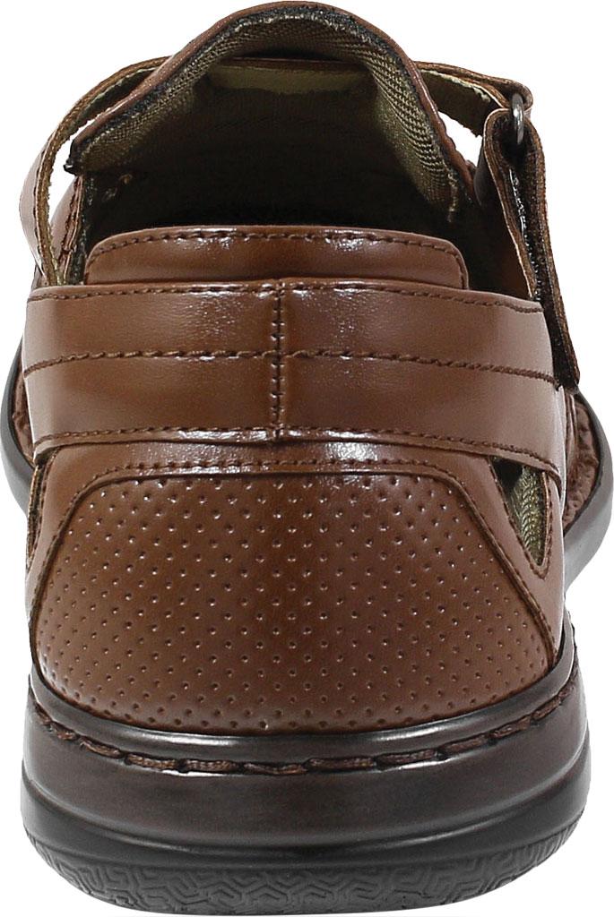 Men's Stacy Adams Aramis Closed Toe Fisherman Sandal, Cognac Leather, large, image 4