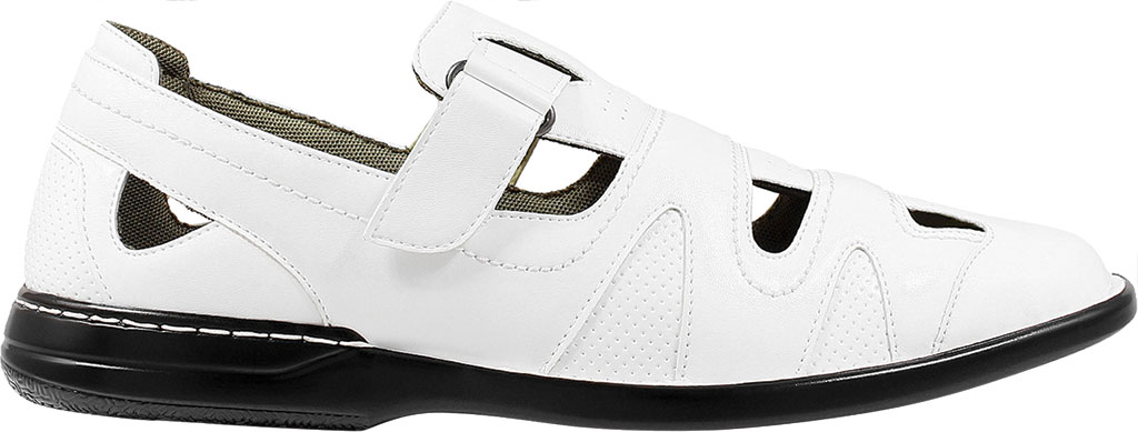 Men's Stacy Adams Aramis Closed Toe Fisherman Sandal, White Leather, large, image 2
