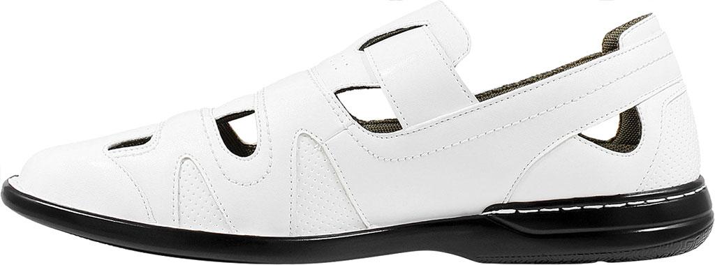 Men's Stacy Adams Aramis Closed Toe Fisherman Sandal, White Leather, large, image 3