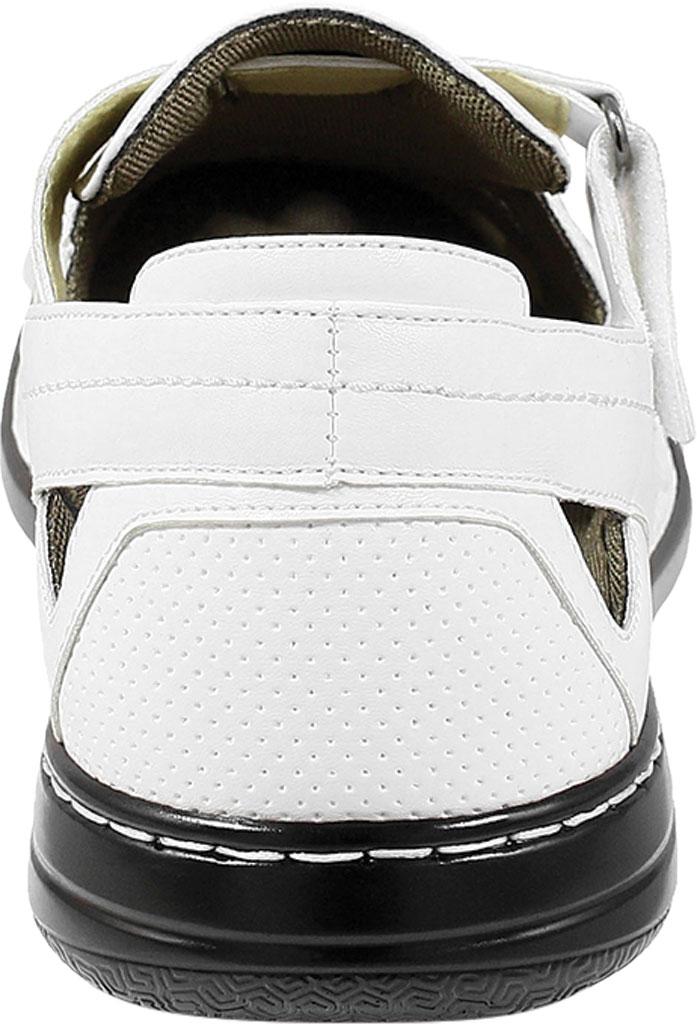 Men's Stacy Adams Aramis Closed Toe Fisherman Sandal, White Leather, large, image 4