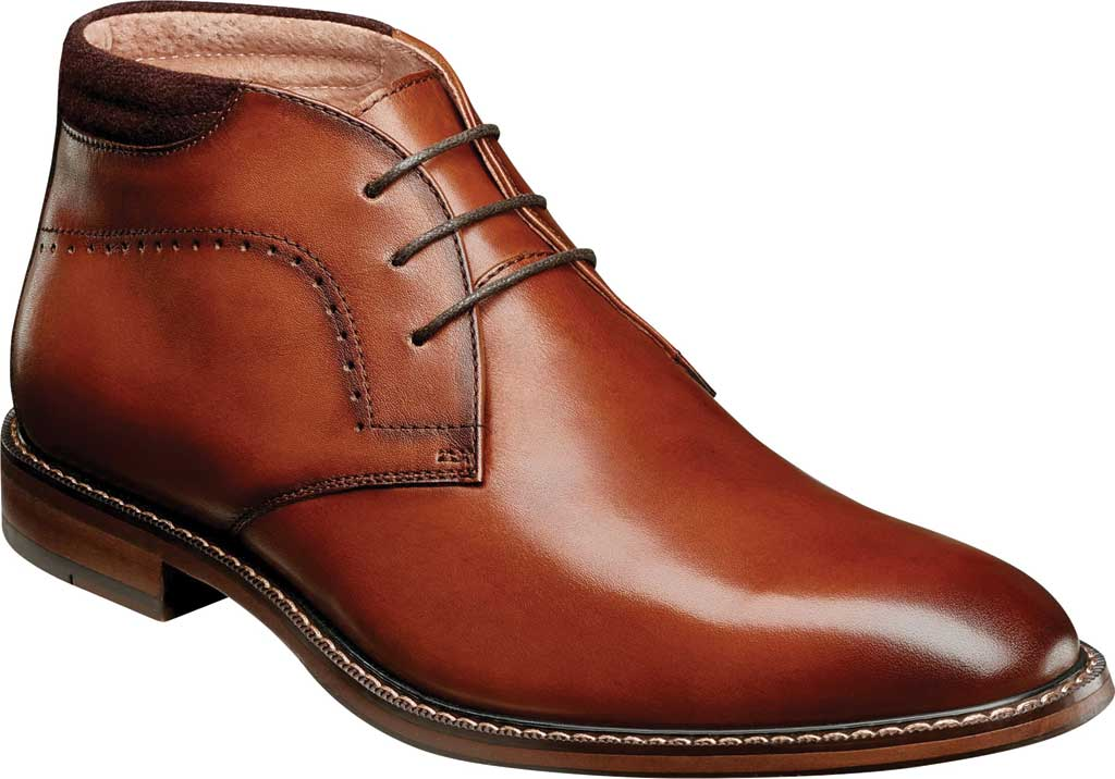 Men's Stacy Adams Frasier Chukka Boot, Cognac Smooth Leather, large, image 1