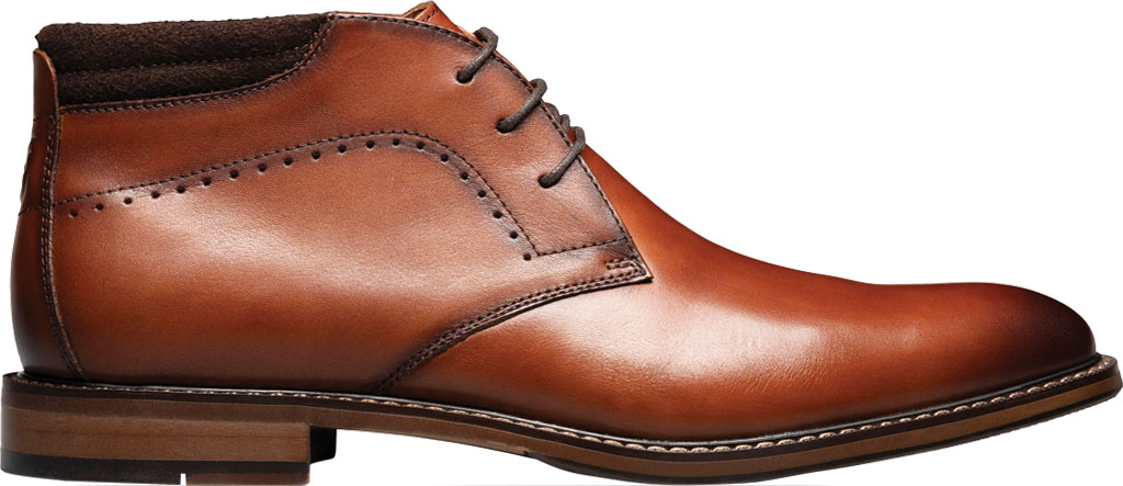 Men's Stacy Adams Frasier Chukka Boot, Cognac Smooth Leather, large, image 2