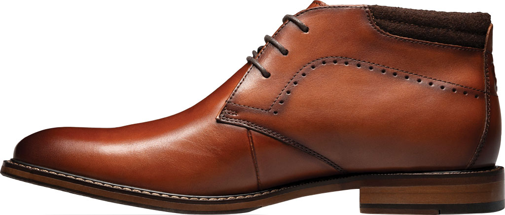 Men's Stacy Adams Frasier Chukka Boot, Cognac Smooth Leather, large, image 3