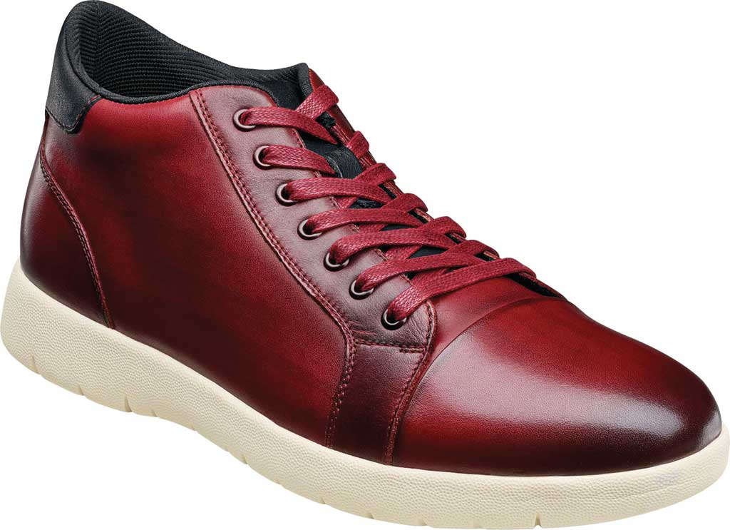 Men's Stacy Adams Harlow Mid Sneaker, Pomegranate Burnished Leather, large, image 1