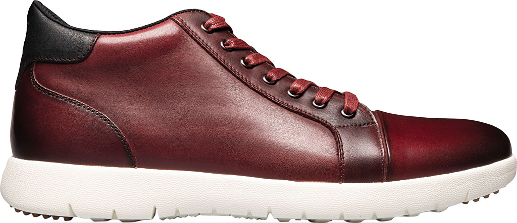 Men's Stacy Adams Harlow Mid Sneaker, Pomegranate Burnished Leather, large, image 2