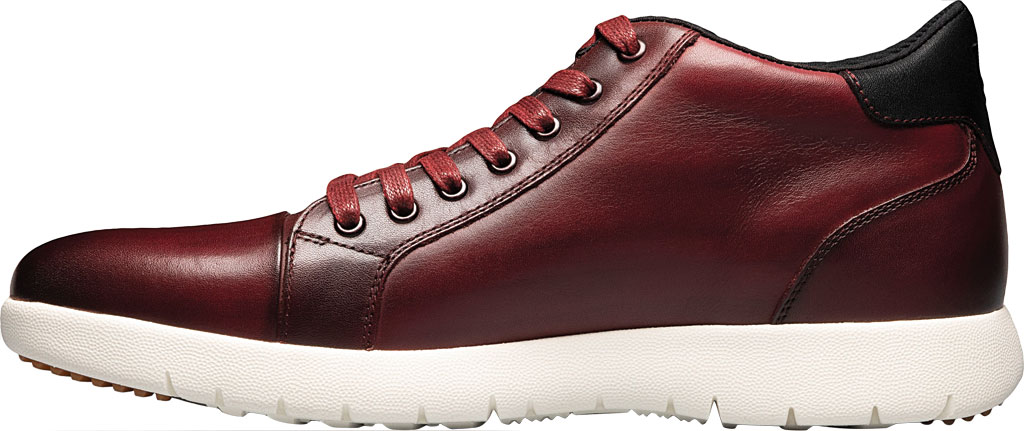 Men's Stacy Adams Harlow Mid Sneaker, Pomegranate Burnished Leather, large, image 3
