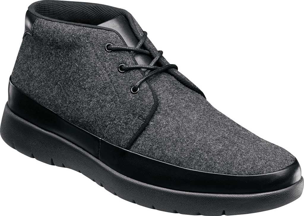 Men's Stacy Adams Hartley Chukka Boot, Charcoal Wool Felt, large, image 1