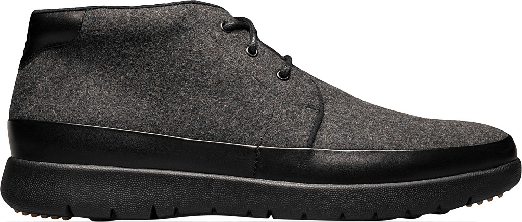 Men's Stacy Adams Hartley Chukka Boot, Charcoal Wool Felt, large, image 2