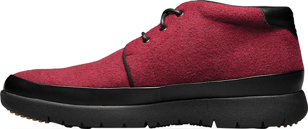 Men's Stacy Adams Hartley Chukka Boot, Burgundy Wool Felt, large, image 3