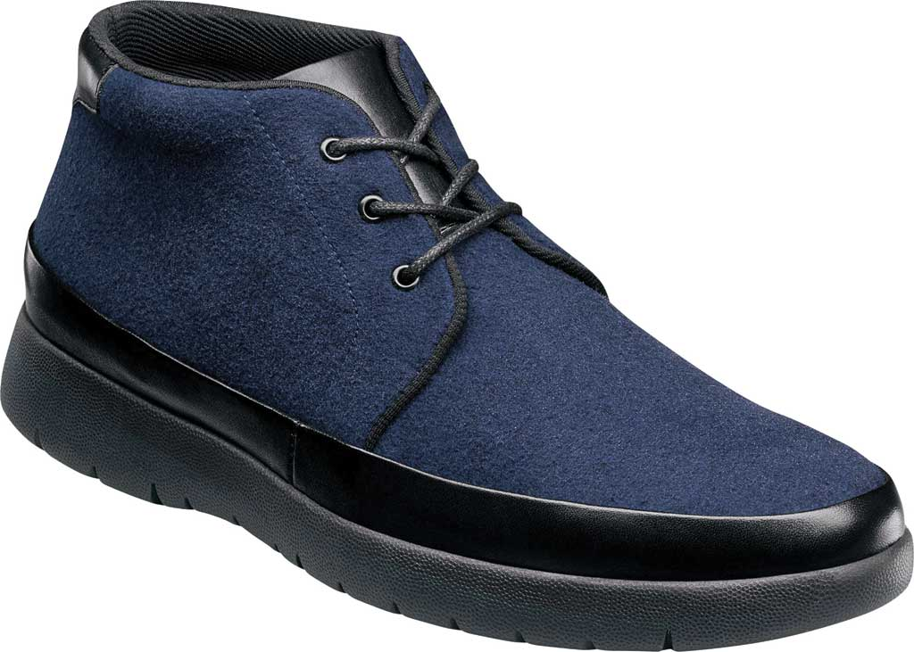 Men's Stacy Adams Hartley Chukka Boot, Navy Wool Felt, large, image 1
