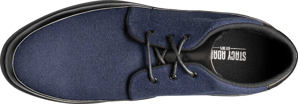 Men's Stacy Adams Hartley Chukka Boot, Navy Wool Felt, large, image 5