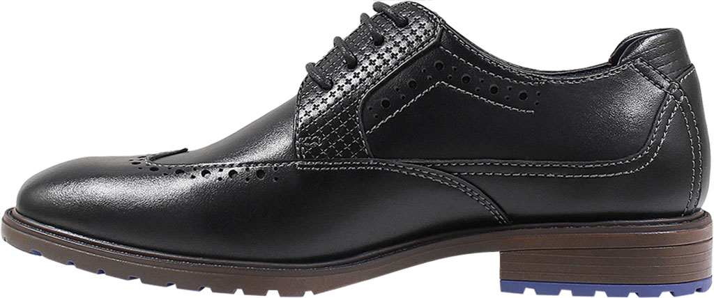 Boys' Stacy Adams Rooney Wingtip Oxford, Black Synthetic, large, image 3