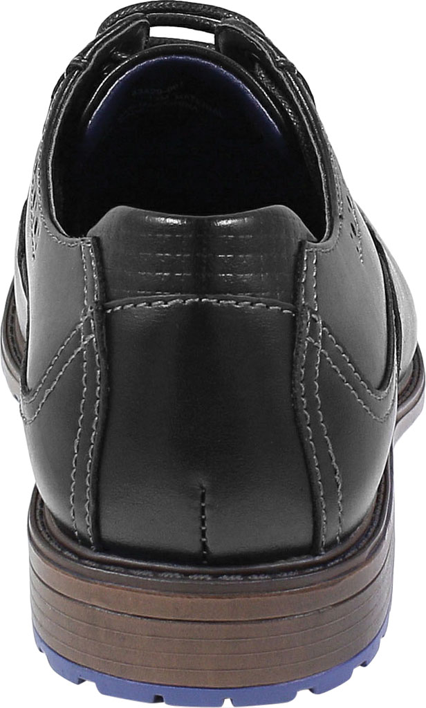 Boys' Stacy Adams Rooney Wingtip Oxford, Black Synthetic, large, image 4