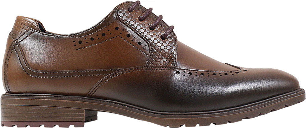 Boys' Stacy Adams Rooney Wingtip Oxford, Tan Synthetic, large, image 2