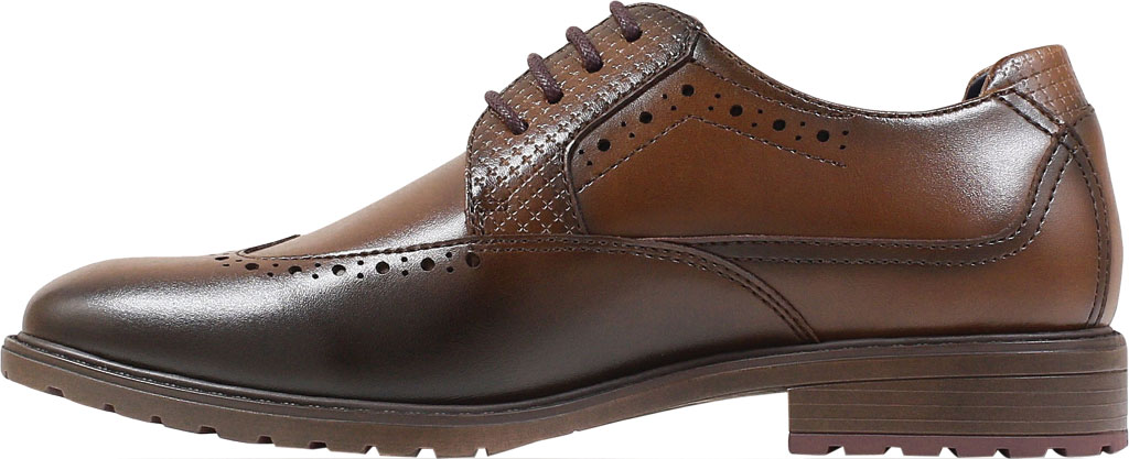 Boys' Stacy Adams Rooney Wingtip Oxford, Tan Synthetic, large, image 3