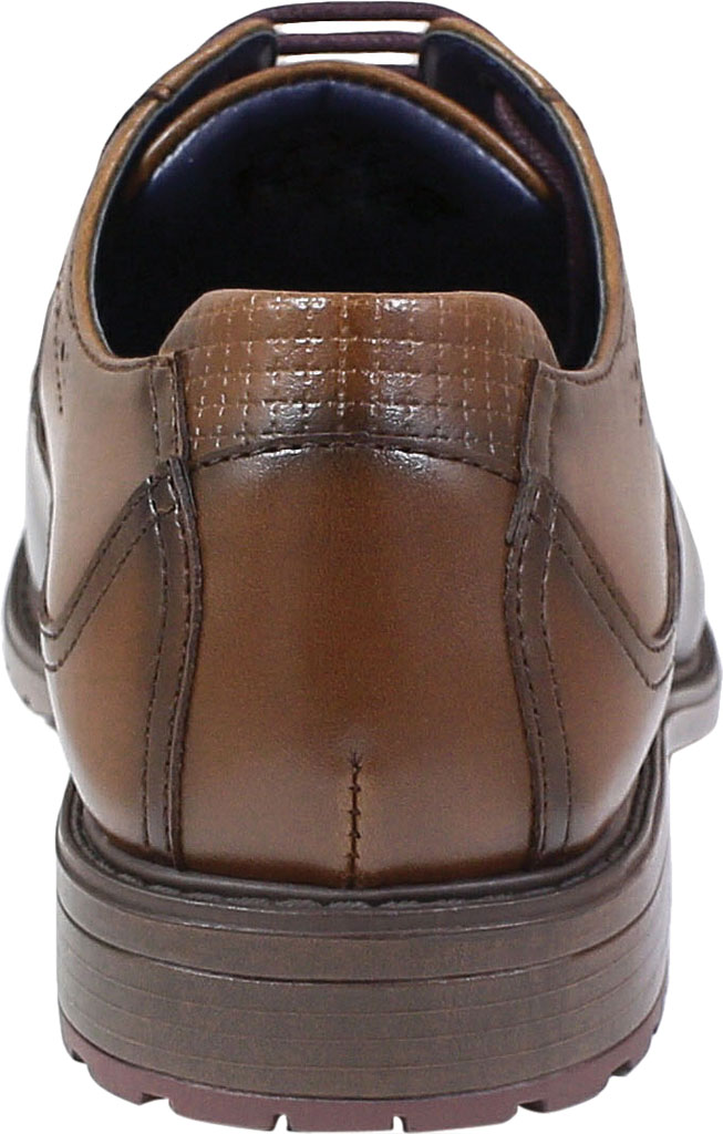 Boys' Stacy Adams Rooney Wingtip Oxford, Tan Synthetic, large, image 4