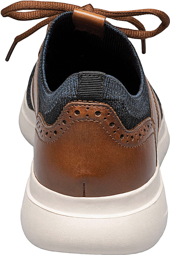 Men's Stacy Adams Moxley Knit Sneaker, Navy/Cognac Knit/Leather, large, image 4