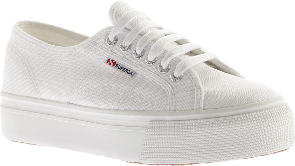 Women's Superga 2790 ACTOW Flatform Sneaker, White, large, image 1