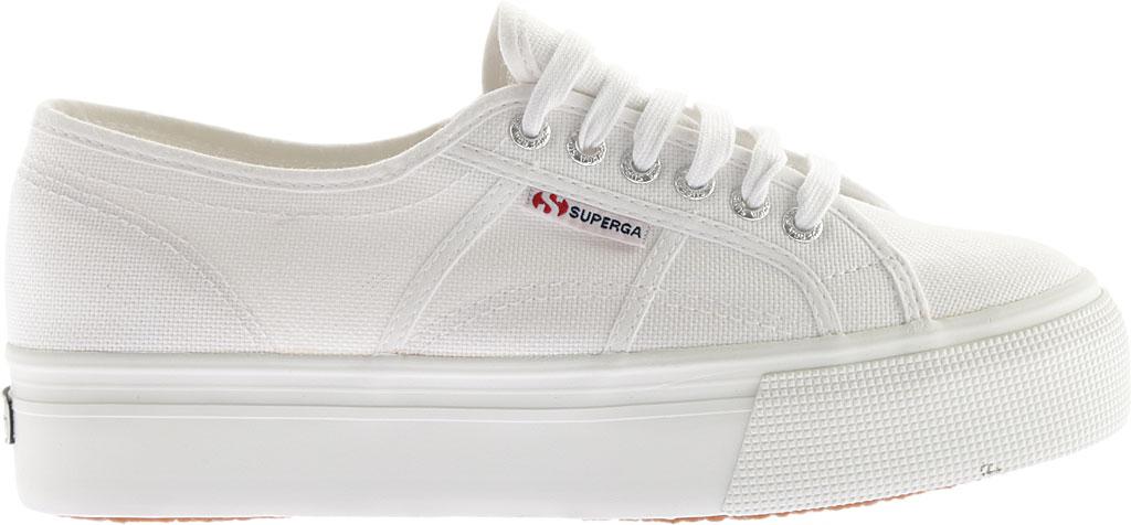 Women's Superga 2790 ACTOW Flatform Sneaker, White, large, image 2