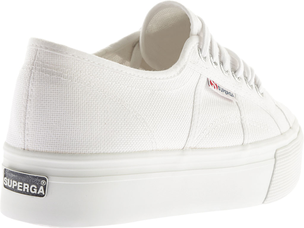 Women's Superga 2790 ACTOW Flatform Sneaker, White, large, image 4