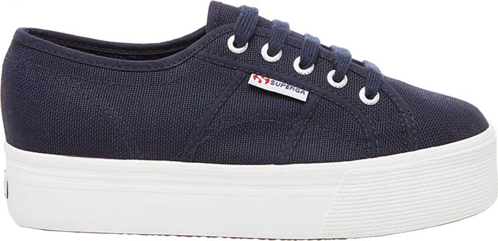 Women's Superga 2790 ACTOW Flatform Sneaker, Navy Canvas/Cotton, large, image 2