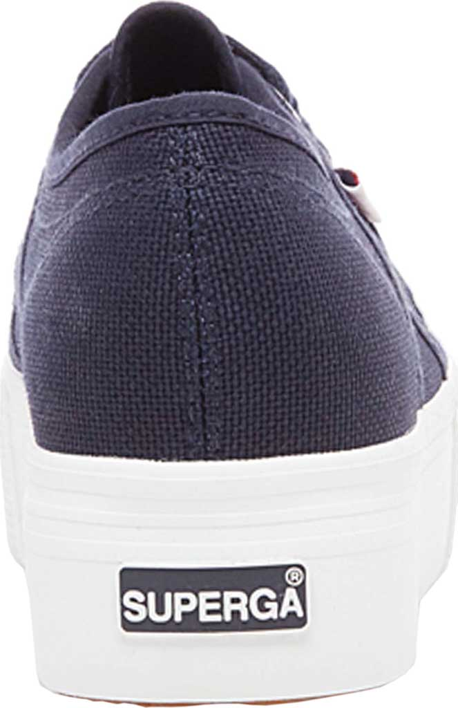 Women's Superga 2790 ACTOW Flatform Sneaker, Navy Canvas/Cotton, large, image 3