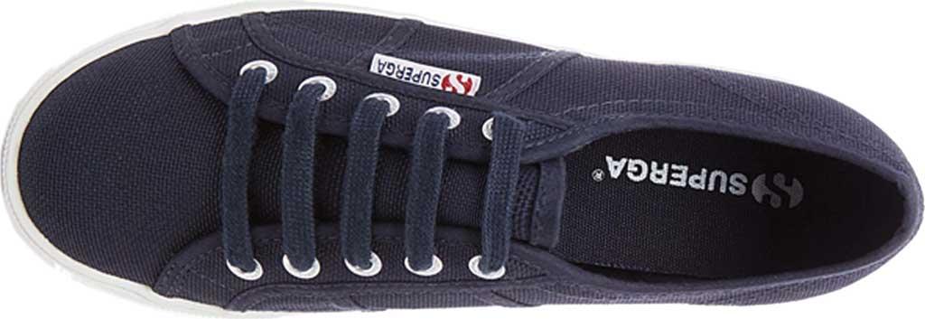 Women's Superga 2790 ACTOW Flatform Sneaker, Navy Canvas/Cotton, large, image 4