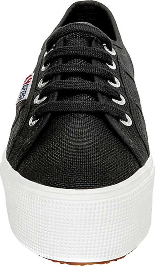 Women's Superga 2790 ACTOW Flatform Sneaker, Black/White, large, image 3