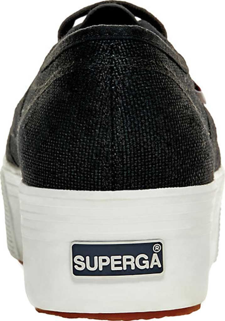 Women's Superga 2790 ACTOW Flatform Sneaker, Black/White, large, image 4