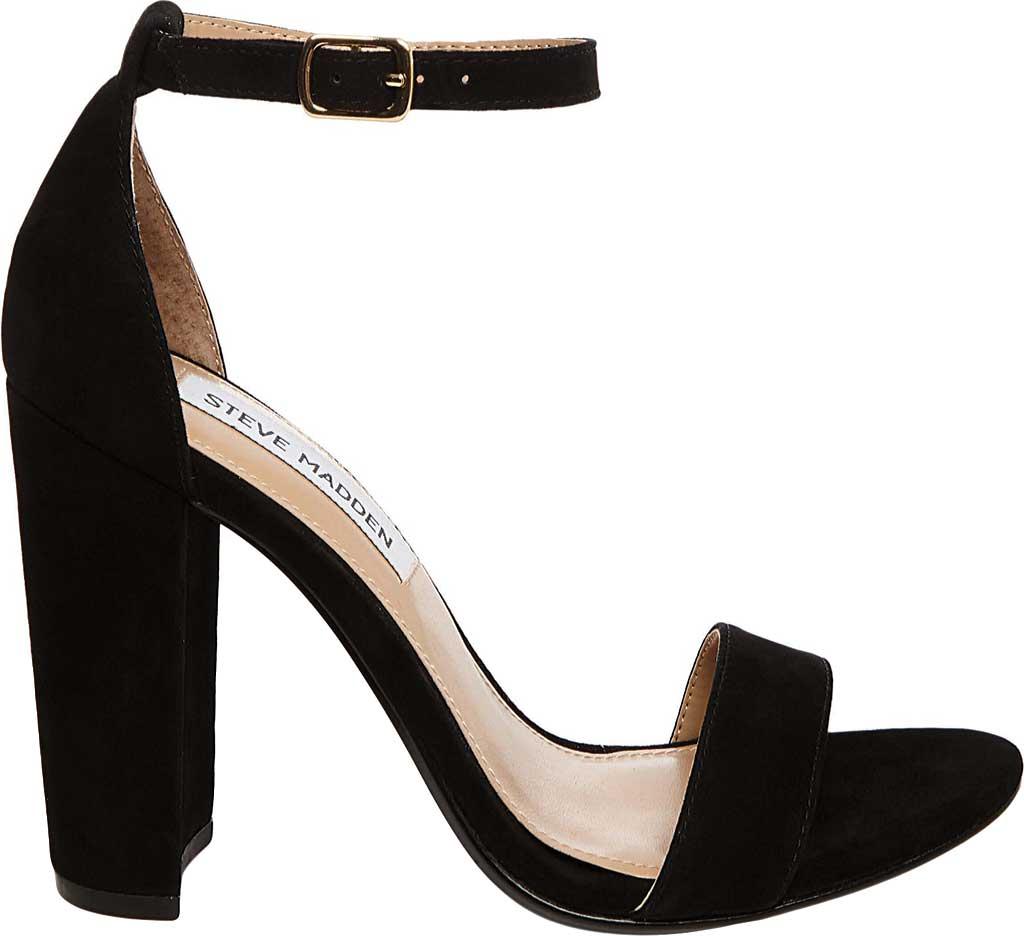 Women's Steve Madden Carrson Ankle Strap Sandal, Black Suede, large, image 2