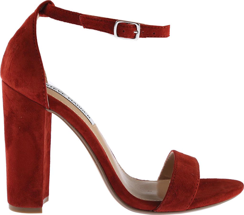 Women's Steve Madden Carrson Ankle Strap Sandal, Rust Kid Suede, large, image 2